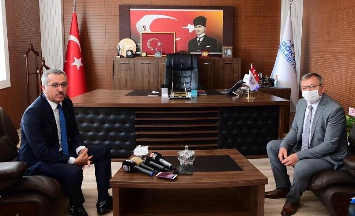 Başkan Güngör'den Göksun Belediyesine Ziyaret