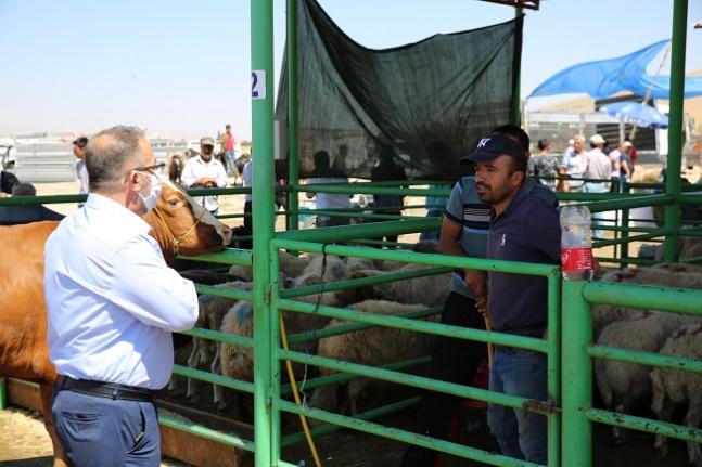 Başkan Güven'den hayvan pazarına ziyaret