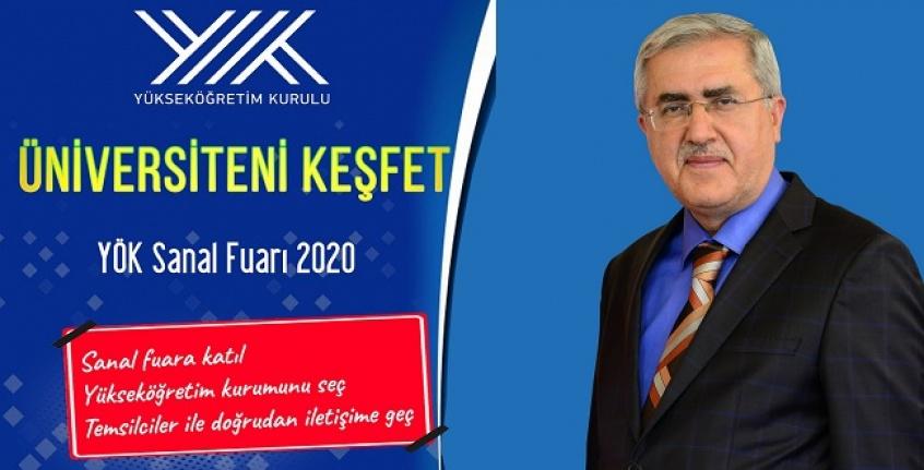 """KSÜ, """"Üniversiteni Keşfet YÖK Sanal Fuarı 2020""""de Stant Açtı"""