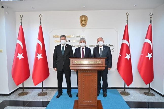 Vali Coşkun, Osmaniye Valisi Erdinç Yılmaz'ı ziyaret etti