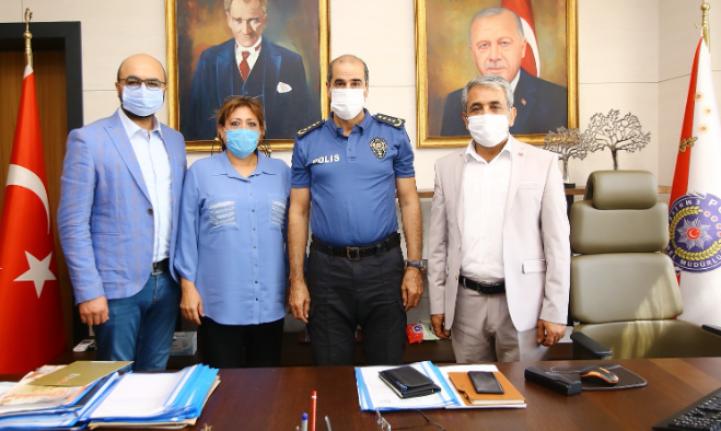 ABYB Emniyet Müdürü Cebeloğlu'nu ziyaret etti.