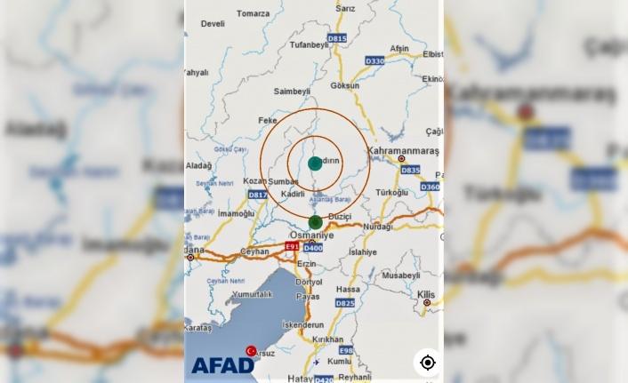 Andırı 'da korkutan deprem