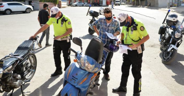 Kahramanmaraş'ta kazaların yüzde 20'sine neden olan motosikletlilere sıkı takip