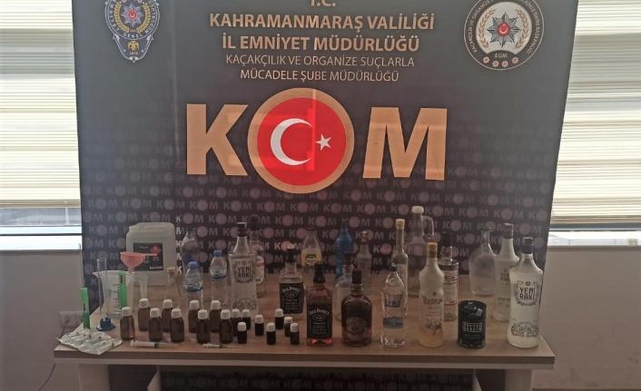 Kahramanmaraş'ta sahte içki operasyonu
