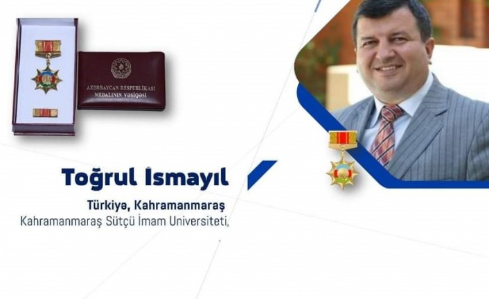 Öğretim Üyesi Prof. Dr. Toğrul İsmayıl Azerbaycan Devlet Madalyası İle Ödüllendirildi