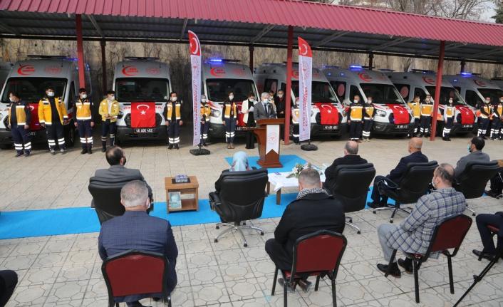 Sağlık Bakanlığımız Tarafından Kahramanmaraş'a Tahsis Edilen 10 Yeni Ambulansın Devir Teslim Töreni Gerçekleştirildi