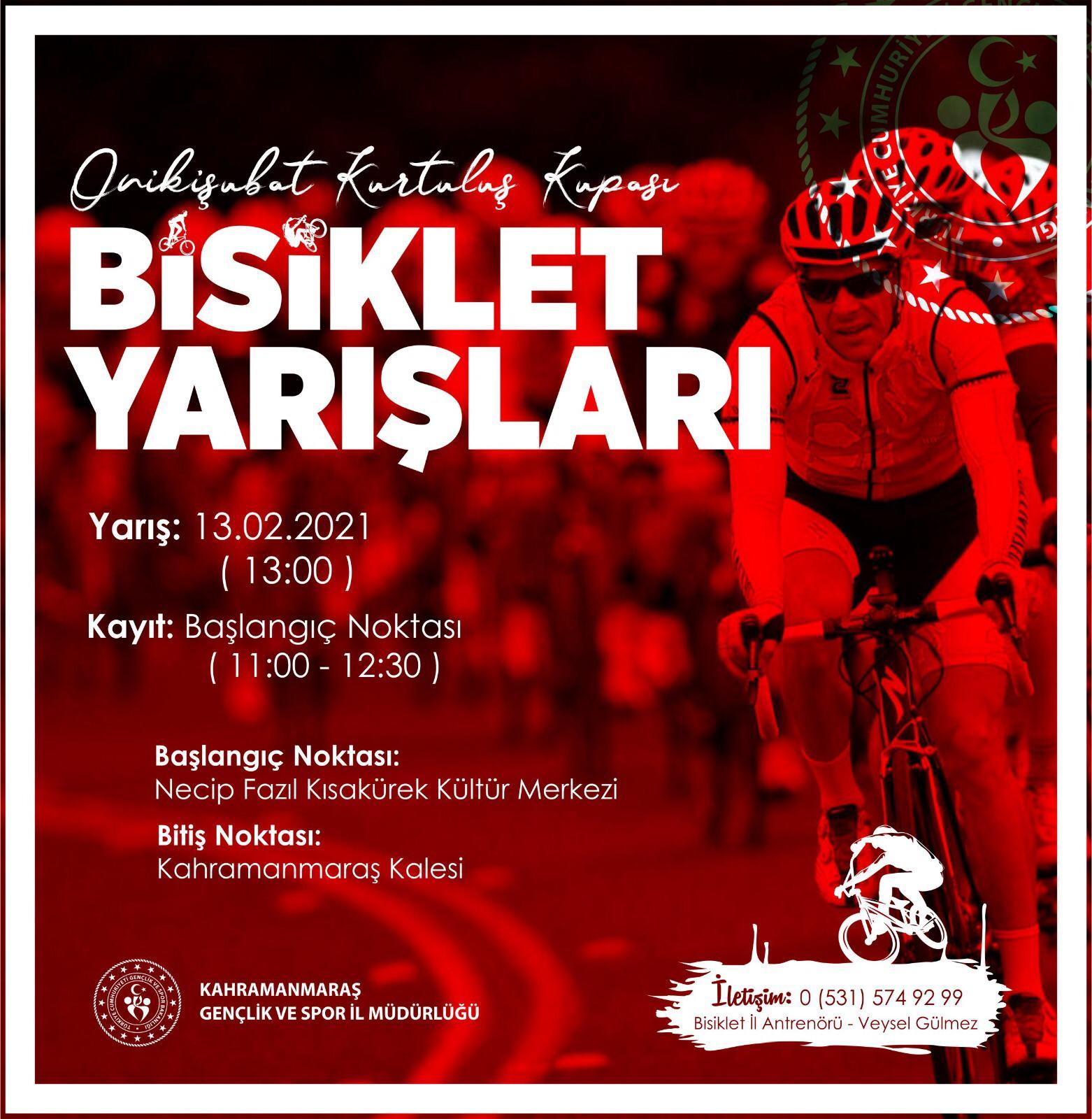 12 Şubat Kurtuluş Etkinlikleri Kapsamında Bisiklet Yarışları Düzenlenecek