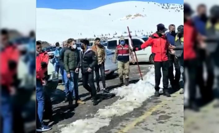 Kayak merkezinde kavga: 1 yaralı