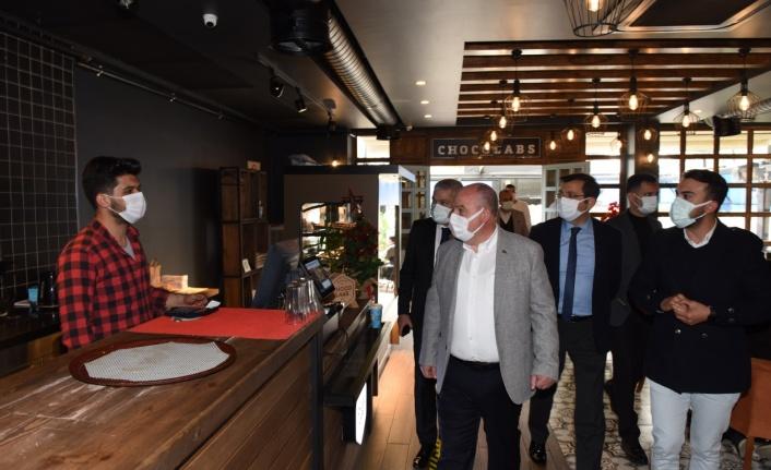 Vali Coşkun Lokanta Ve Kafeterya İşletmecilerimizi Ziyaret Etti