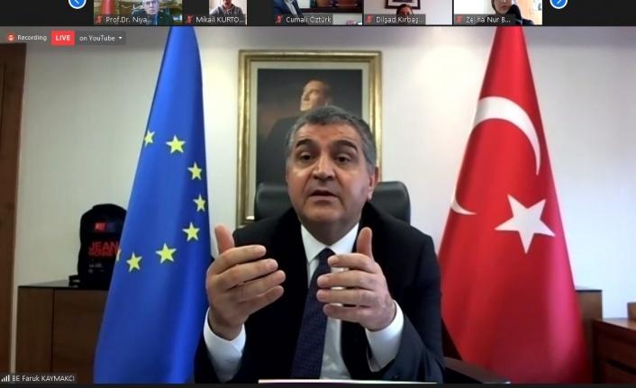 Dışişleri Bakan Yardımcısı Faruk Kaymakçı KSÜ'de  'Türkiye-AB İlişkileri' Üzerine Söyleşi Gerçekleştirdi
