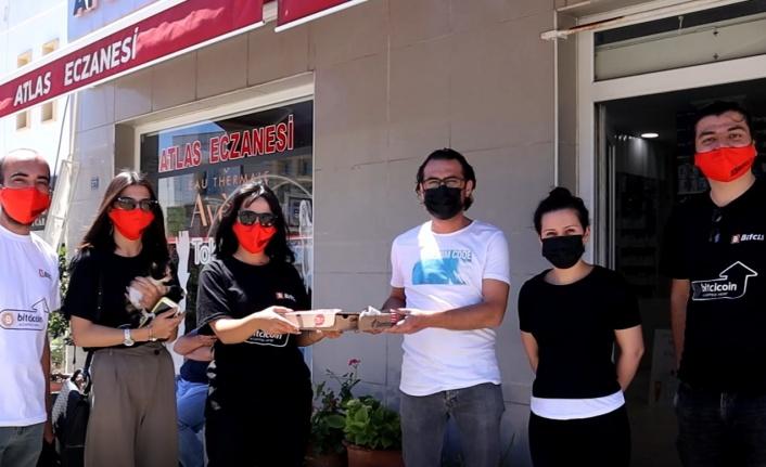 Bitcoin Pizza Günü'nde, Bodrum'daki sağlık çalışanlarına anlamlı jest