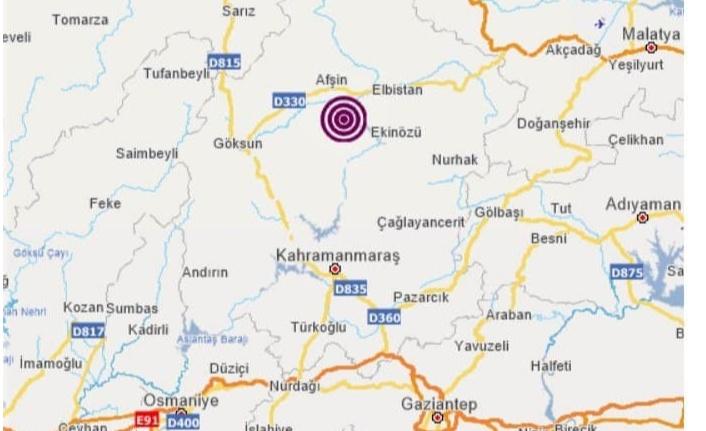 Göksun'da 2.3 Şiddetinde Deprem