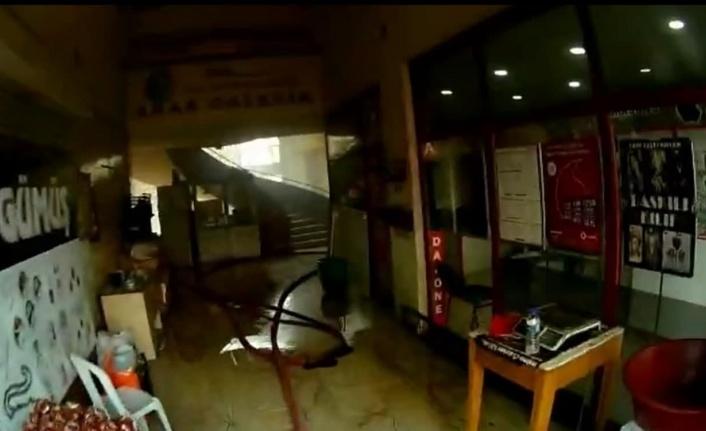 Kahramanmaraş'ta iş merkezinde yangın paniği
