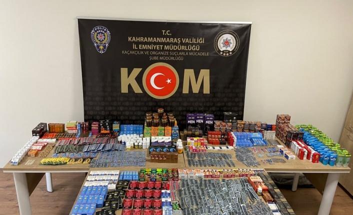 Kahramanmaraş'ta kaçak cinsel ürün operasyonu