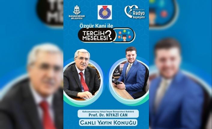 Rektör Can, Radyo Başakşehir'de Sütçü İmam Üniversitesini Anlattı