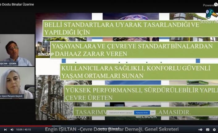 """İstiklal Üniversitesi'nin Düzenlediği Çevrimiçi Söyleşide """"Çevre Dostu Binalar"""" Anlatıldı"""