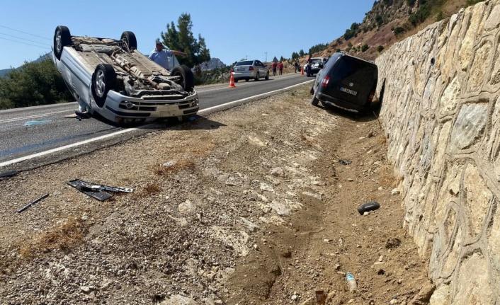 Kahramanmaraş'ta otomobil takla attı: 1 yaralı
