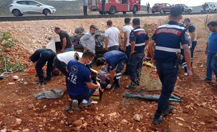 Kahramanmaraş'ta otomobil takla attı: 5 yaralı