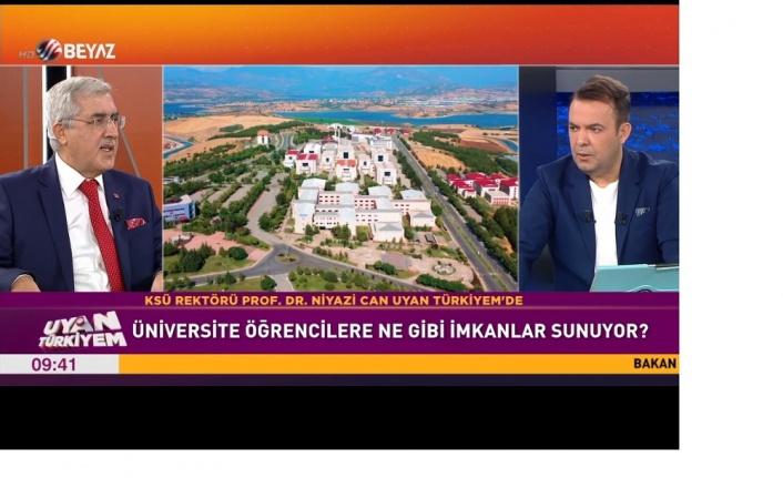 Rektör Prof. Dr. Niyazi Can, Beyaz TV'de Yayınlanan Uyan Türkiyem Programına Katılarak Şehrimizi ve Üniversitemizi Tanıttı