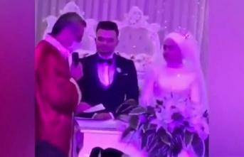 Damada nikah töreninde arkadaşlarından sürpriz