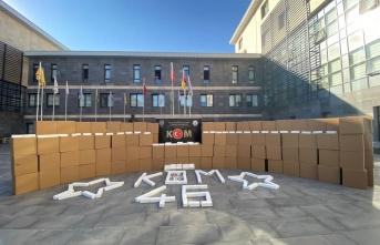 Kahramanmaraş'ta kaçak makaron operasyonu