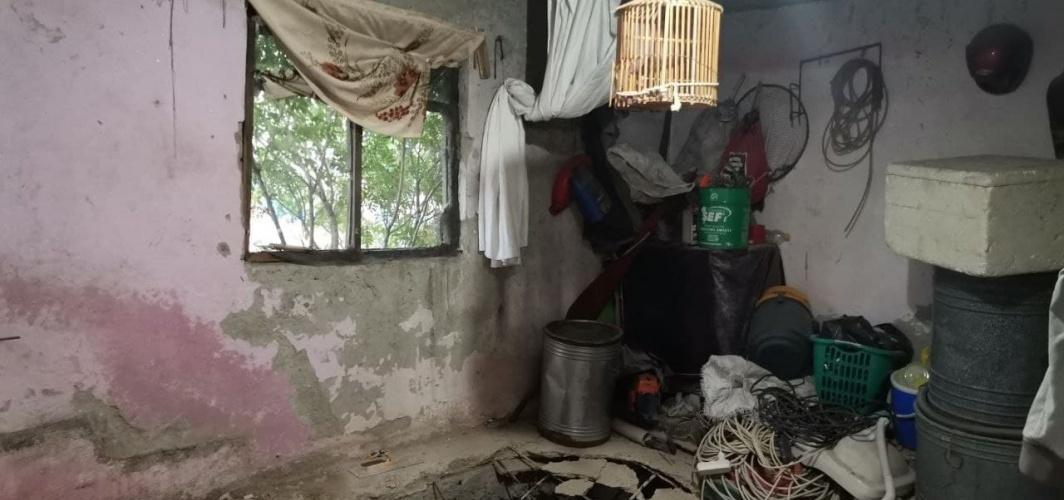 Kahramanmaraş'ta evin yatak odası çöktü