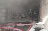 Kahramanmaraş'ta tekstil fabrikasında depo yangını