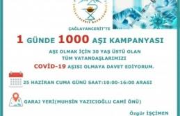 ÇAĞLAYANCERİT'TE BİR GÜNDE 1.000 DOZ AŞILAMA...