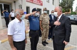 Vali Coşkun Pazarcık ve Çağlayancerit'i ziyaret...