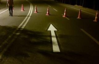 Büyükşehir yol çizgi çalışmalarına devam ediyor