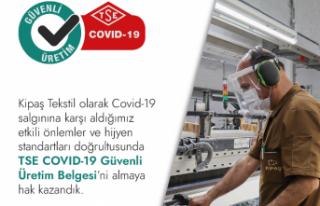 KİPAŞ Tekstil'E TSE'den güvenli üretim belgesi