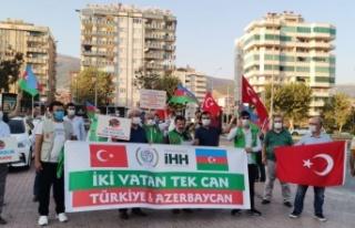 Kahramanmaraş İHH'dan Azerbaycan'a destek