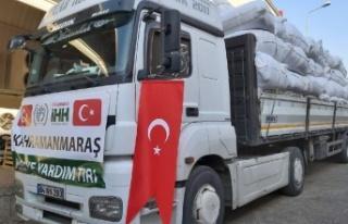 Kahramanmaraş'tan Suriye'ye 15. yardım tırı...