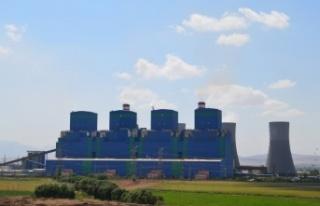 Afşin-Elbistan B Termik santralinde enerji üretimi...