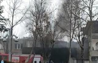 Kahramanmaraş'ta işyeri yangını