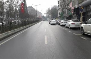 Kahramanmaraş'ta korona ve yağmur sessizliği