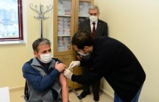 KSÜ Tıp Fakültesi Hastanesinde COVİD-19 Aşısı...