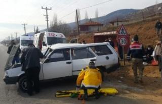 Trafik kazasında ağır yaralanan kişi hastanede...