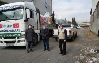 Kahramanmaraş İHH'dan Suriye'ye yardım sevkiyatı