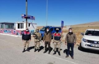 Elbistan'da usulsüz avlanan 2 avcı yakalandı