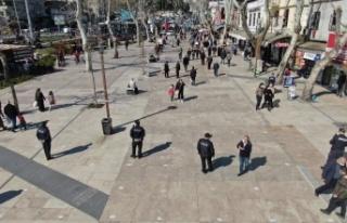 Kahramanmaraş'ta droneli Covit-19 denetimi