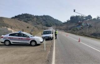 Kural ihlali yapan sürücüler droneden kaçamadı