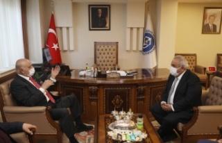 Mehmet Sağlam'dan Kiü Rektörü Prof. Dr. Sami...