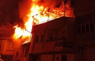 Yangında yaralanan karı koca yaşam mücadelesi...