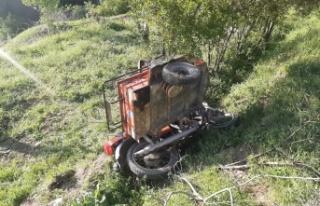 Kahramanmaraş'ta hafif ticari araç motosiklete...