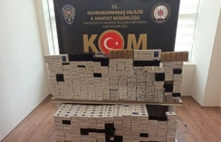 Kahramanmaraş'ta kaçak sigara ticaretine polis...