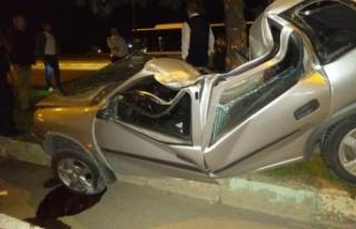 Otomobiliyle ağaca çarpan sürücü hayatını kaybetti