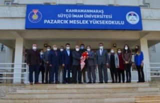 Rektör Can, Pazarcık'ta İlçe Protokolü ve MYO...
