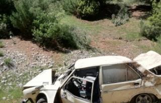 Kahramanmaraş'ta Yoldan Çıkan Otomobil Takla...
