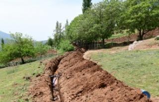 Muratçakıroğlu Mahallesinde İçme Suyu Çalışmaları...